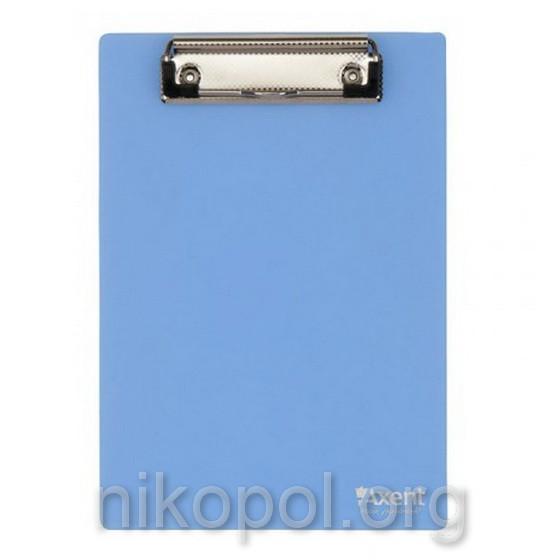 "Планшет ""Axent 2516-07"" с зажимом голубой, формат А5"