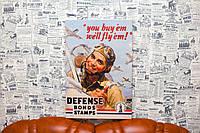 Летчик. Постер на холсте. 60х40 см. Картина на холсте.