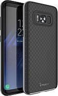 Чехол-накладка Ipaky TPU+PC bumper Samsung S8 Black/Grey
