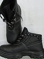Ботинки рабочие кожаные литьевого метода крепления подошвы