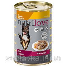 КонсервыNutrilove Chicken and Pasta (Нутрилав Курка з макаронами) в желе для собак 415г