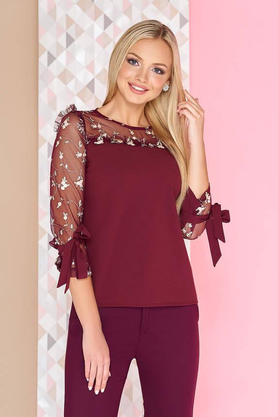 Нарядная женская блузка с вышивкой, фото 2