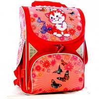 Ранець (рюкзак) - каркасный ортопедический школьныйдля девочки Кот (котик), tiger cat,2901A8