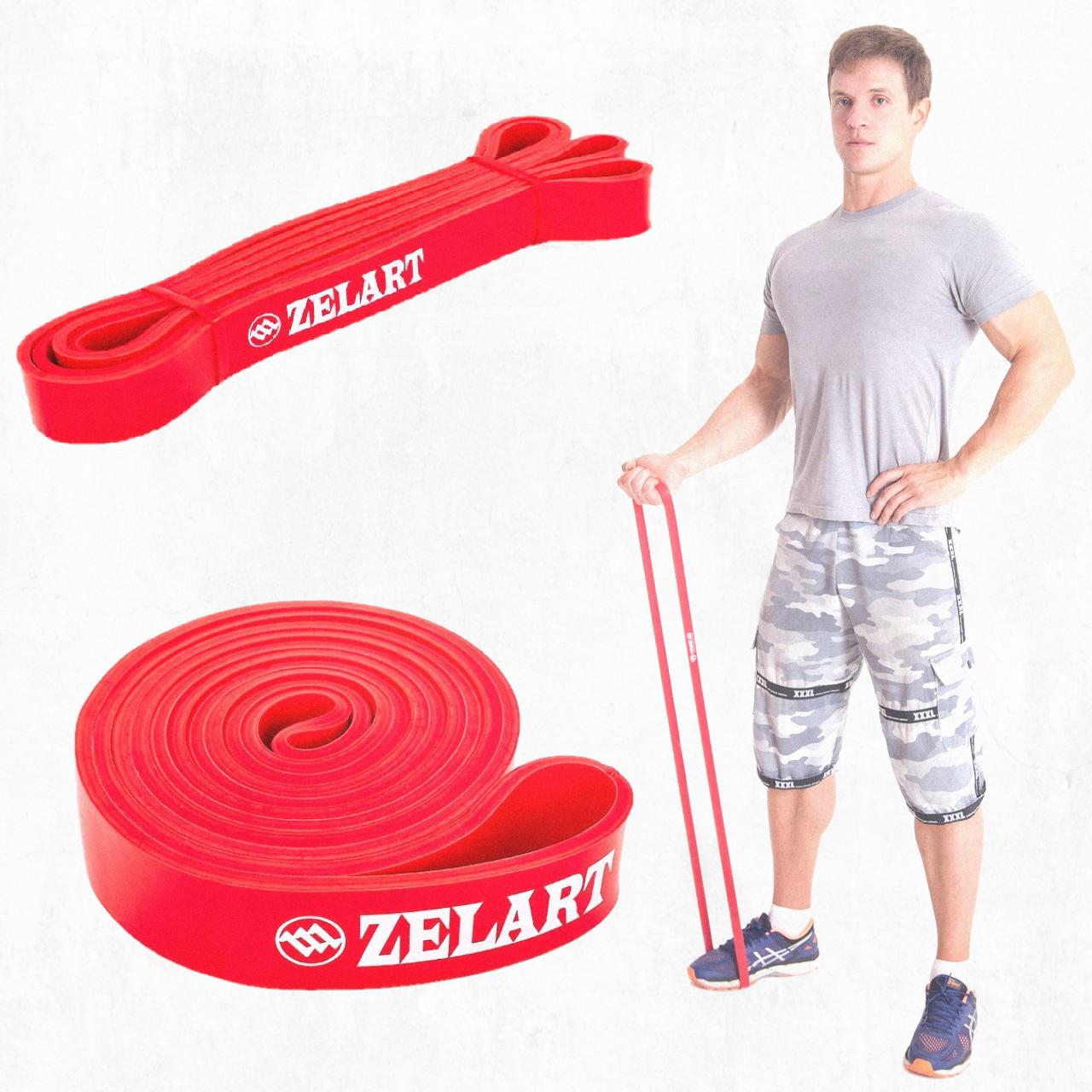 Резиновая петля Красная S 11-36 кг/ Резина для подтягивания / Эспандер /Фитнес резинка • Zelart •