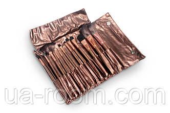 Набор кистей для макияжа Lily (12 шт, Бронзовый), фото 2