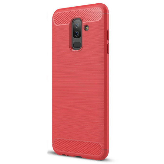 Чехол PRIMO Carbon Fiber Series для Samsung A6 Plus 2018 (A605) - Red