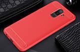 Чехол PRIMO Carbon Fiber Series для Samsung A6 Plus 2018 (A605) - Red, фото 3