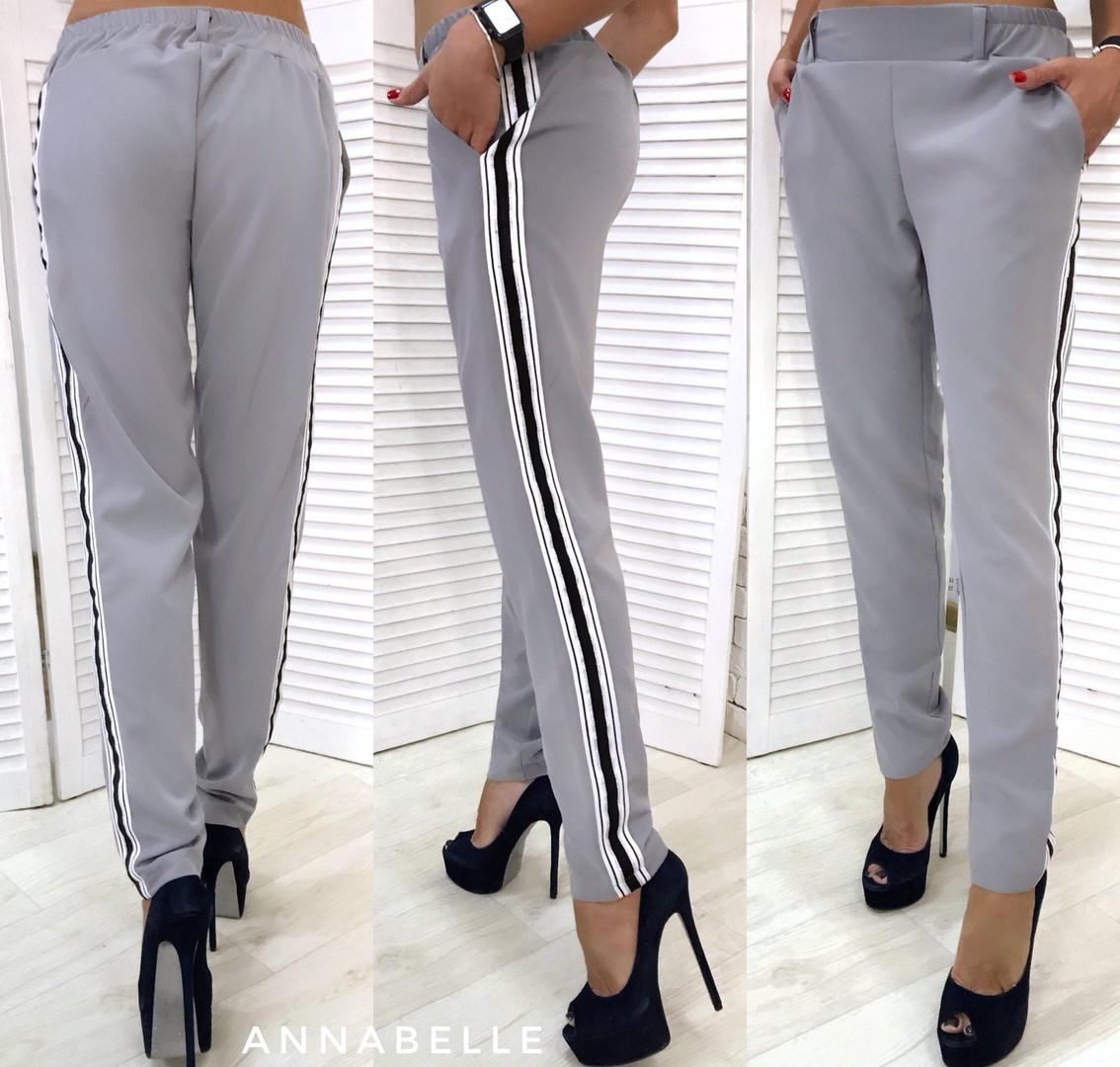 53330acc3ff8 Женские брюки с лампасом (5 расцветок) мод.1175