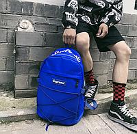 Рюкзак портфель сумка Supreme Суприм со шнурками 3 цвета водонепроницаемый реплика черный синий