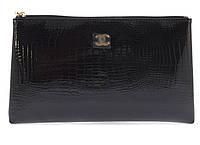 Жіноча елітна лакова шкіряна сумочка art. B9022 велика чорна, фото 1