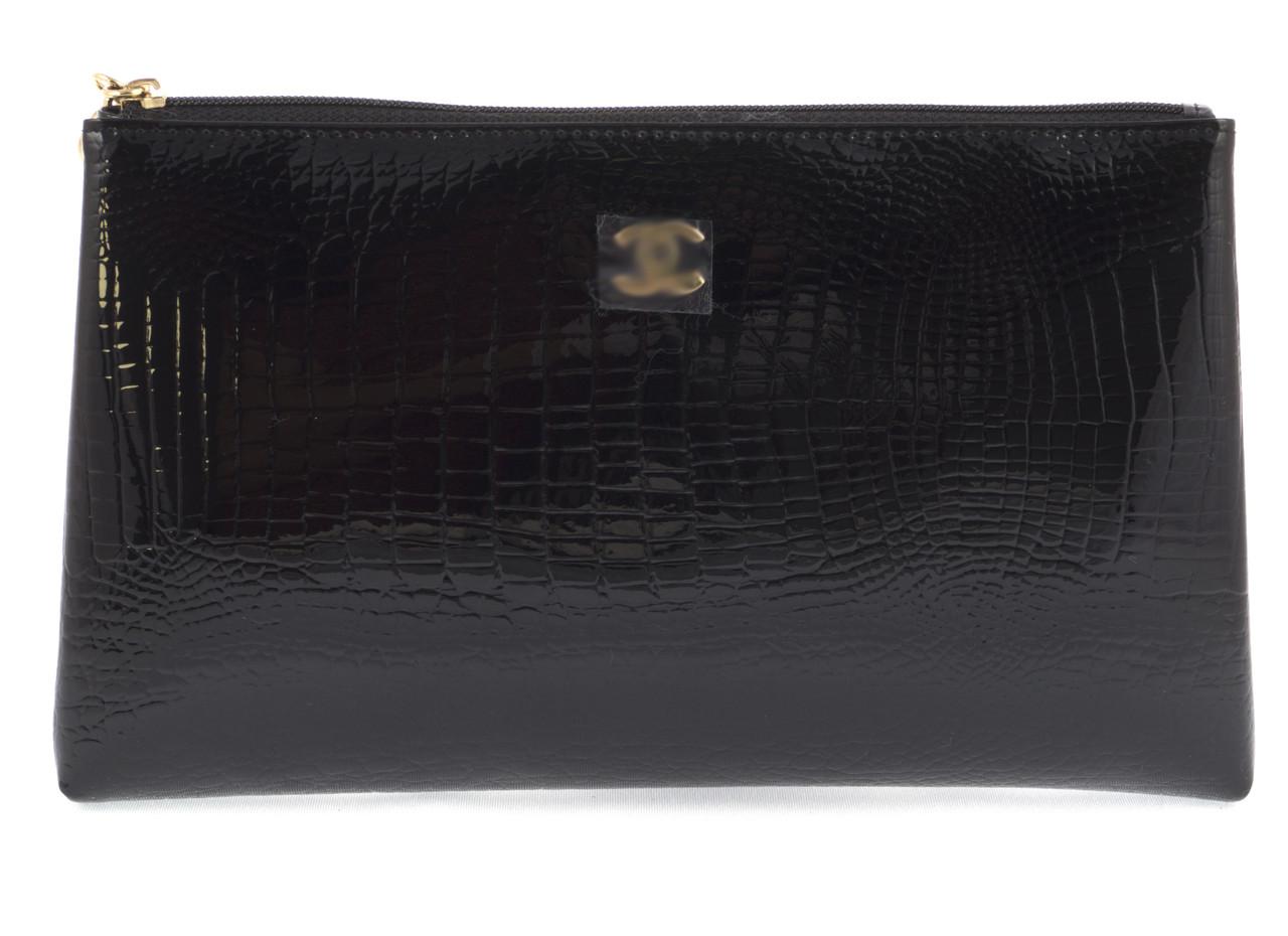Жіноча елітна лакова шкіряна сумочка art. B9022 велика чорна