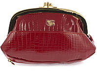 Женская элитная лаковая кожаная косметичка на поцелуях art. B9031 красная, фото 1