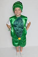 Костюм на праздник весны и осени Огурец для мальчика 3-6 лет, фото 1