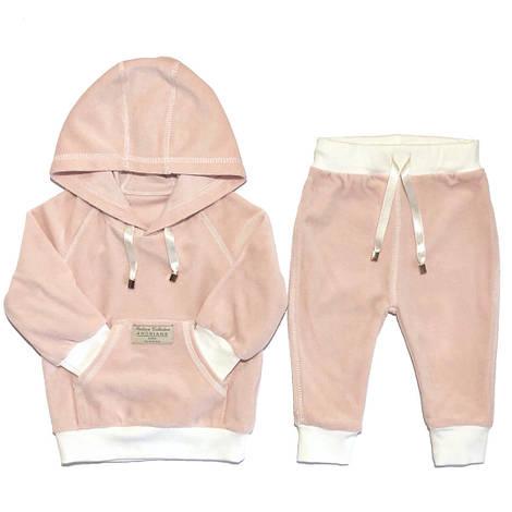Велюровый костюм для девочки Andriana Kids розовый