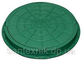Люк садовый 600x600 пластмассовый легкий (зелёный)