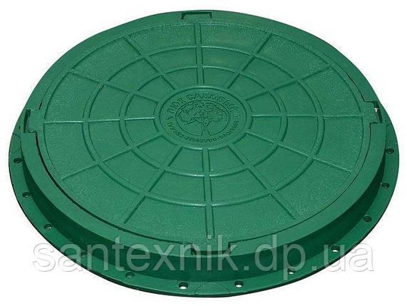 Люк садовый пластмассовый легкий (зелёный), фото 2