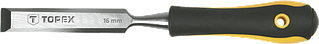 Стамеска Topex 16 мм, CrV, двокомпонентна рукоятка