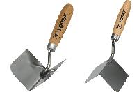 Кельма Topex штукатурна нержавіюча для внутрішніх кутів 85х60 мм