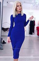 Платье футляр базовое трикотажное длинный рукав однотонное 9 цветов