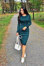 Базовое женское платье миди Черное, фото 3