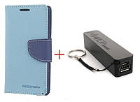 Чехол книжка Goospery Samsung  GALAXY J7 PRIME + Внешний аккумулятор (Powerbank) 2600 mAh (в комплекте). Подарок!!!