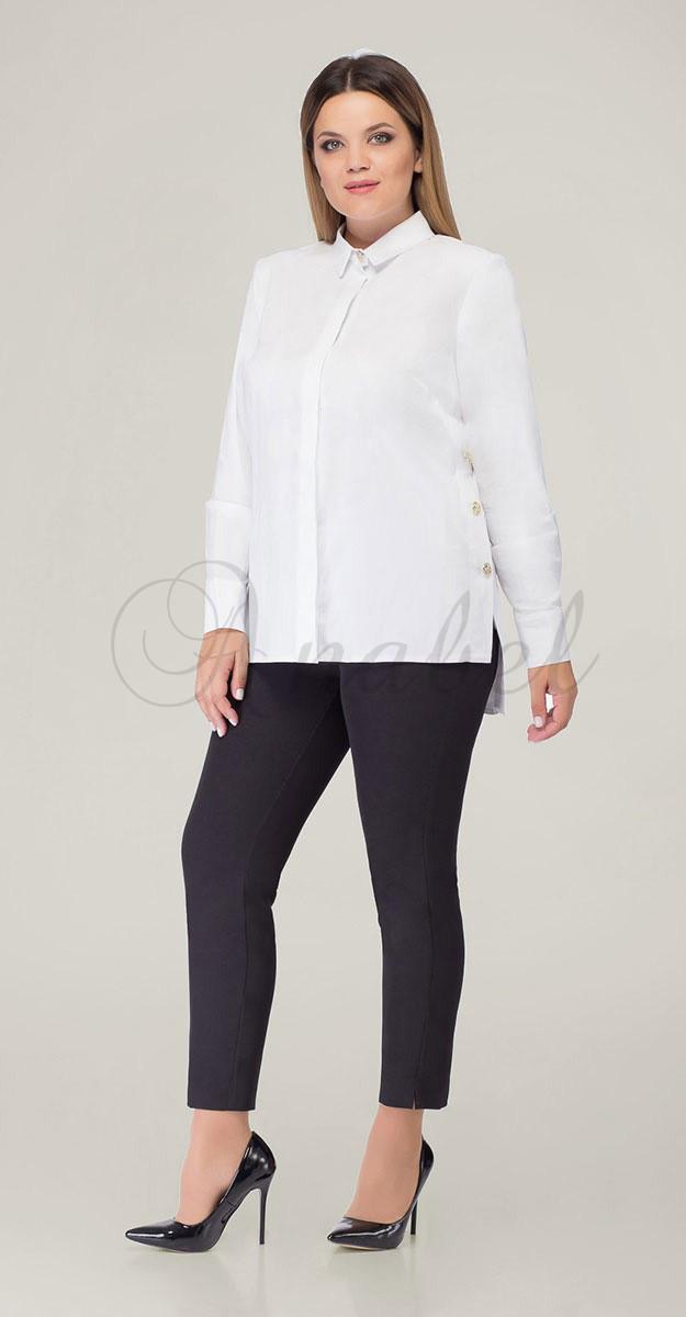 Блузка Дали-5327 белорусский трикотаж, белые тона, 46