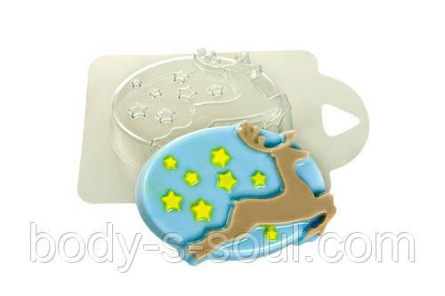 Пластиковая форма для мыла Звездный олень