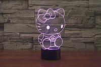 3D-лампа ночник с пультом Lumen Hello Kitty