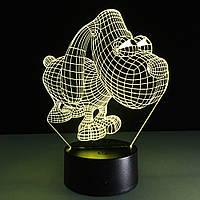 3D-лампа ночник с пультом Lumen Dog