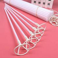 Палочка для фольгированных шаров белая 40 см