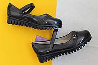 Синие лаковые туфли для девочки на тракторной подошве тм Tom.m р. 27,28,31, фото 1