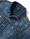 Оригинальная куртка мужская джинсовая Mercedes Embroidered Denim Jacket, Men, Jeans Blue, Trucker (B67871169), фото 2