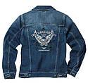 Оригинальная куртка мужская джинсовая Mercedes Embroidered Denim Jacket, Men, Jeans Blue, Trucker (B67871169), фото 3