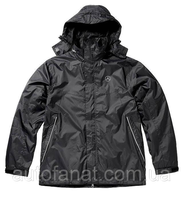 Оригинальная мужская куртка-ветровка Mercedes Men's Cagoule, Water-repellent and Windproof, Black (B66958268)