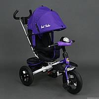 .Велосипед Best Trike 3-х колёсный 6590 ФИОЛЕТОВЫЙ (1) НАДУВНЫЕ КОЛЁСА d=29см. переднее, d=26см. задние,
