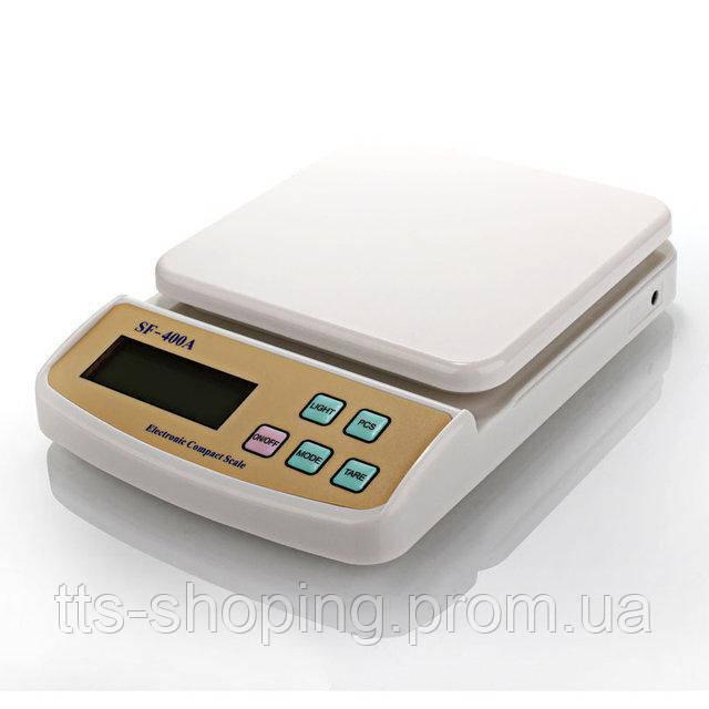 Электронные Кухонные Весы 5 кг SF-400A + Батарейки с подсветкой - фото 1