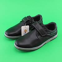 Туфли для мальчиков черные в школу 3827A Tom.m размер 33,34,35,36,37,38