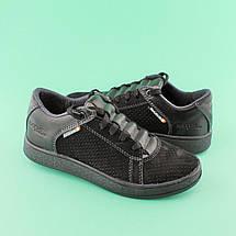 Туфли черыне подростковые для мальчика 32007 размер 34, фото 3