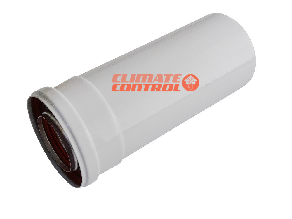 Удлинитель для коаксиального дымохода для газового котла 0,25 м.