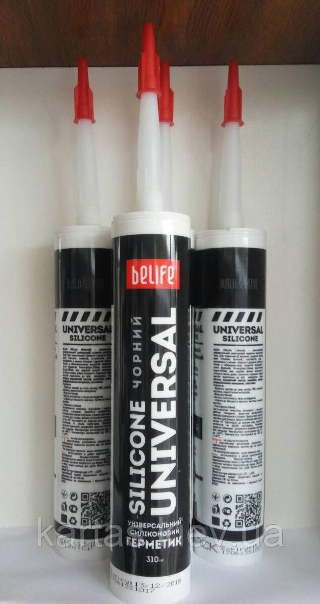 Герметик силиконовый универсальный BeLife черный 310 мл