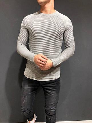 Мужской свитер - реглан светло-серый, фото 2