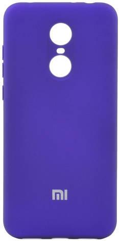 Чохол-накладка HC для Xiaomi Redmi 5 Plus Силікон (+Підкладка) Фіолетовий, фото 2