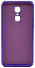 Чохол-накладка HC для Xiaomi Redmi 5 Plus Силікон (+Підкладка) Фіолетовий, фото 3
