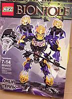 Конструктор KSZ 612-3 Бионикл Bionicle Онуа - Объединение Земли 217 деталей, фото 1