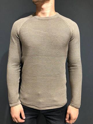 Мужской свитер - реглан бежевый, фото 2
