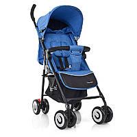 Детская прогулочная коляска трость-книжка M 3458-2-12, Голубая