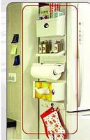 Органайзер 5 в 1 на холодильник держатель для полотенец пакетов