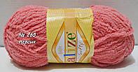 Нитки пряжа для вязания велюровая плюшевая SOFTY Софти от ALIZE Ализе № 265 - персик