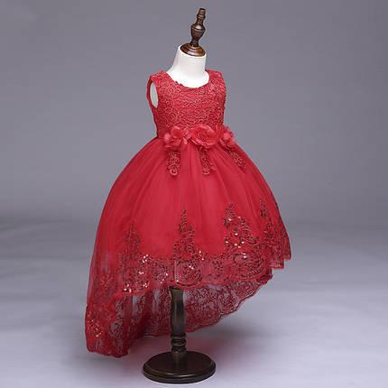 db05262892a689d Нарядное платье для девочки с шлейфоми пайетками красное: продажа ...