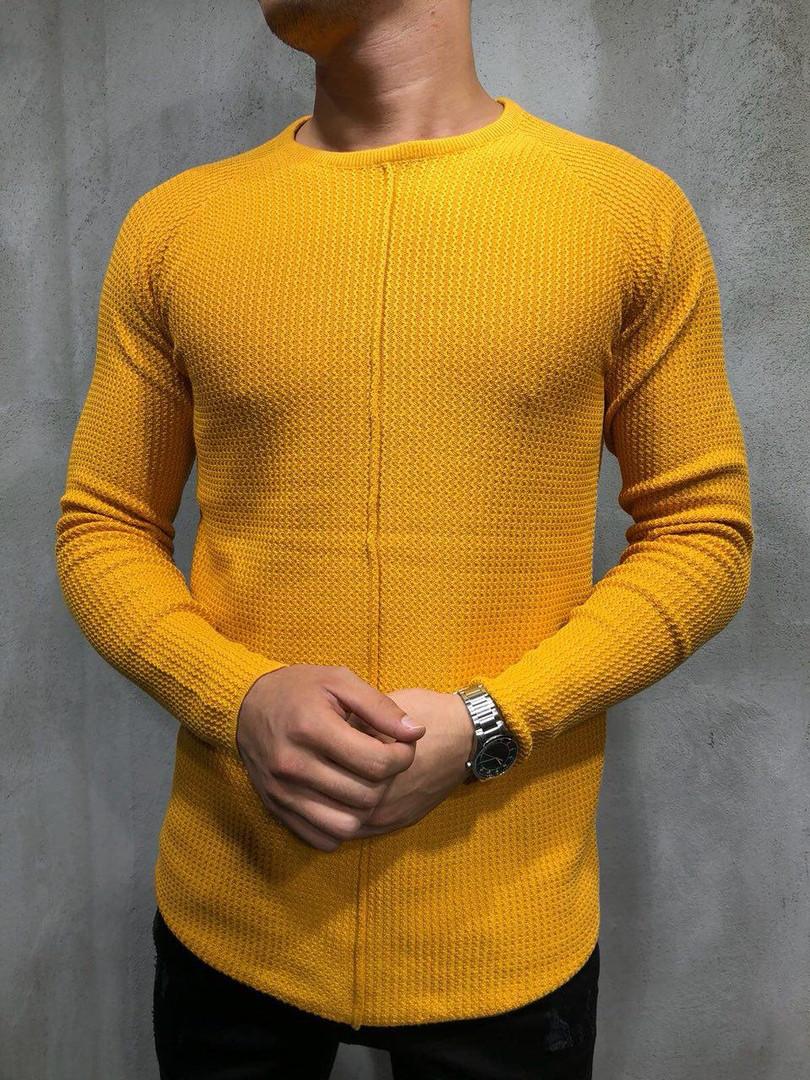 Кардиган - реглан мужской желтый